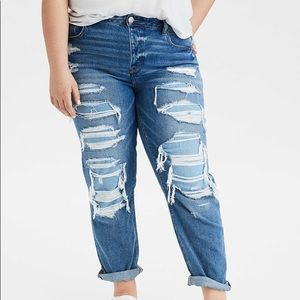 NWOT! AEO Tomgirl Shadow Patched Jeans